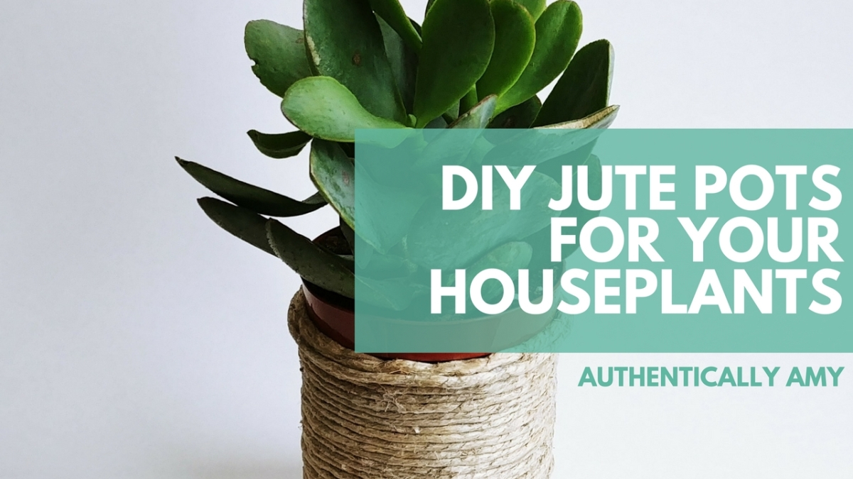 DIY Jute Pots For Your Houseplants