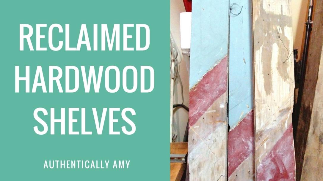 Reclaimed Hardwood Shelves