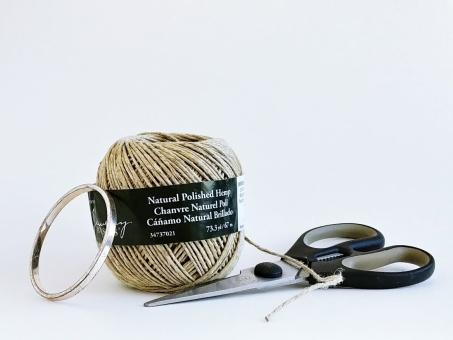 Jute, Hemp, Supplies, Scissors, Bracelet, Repurposed