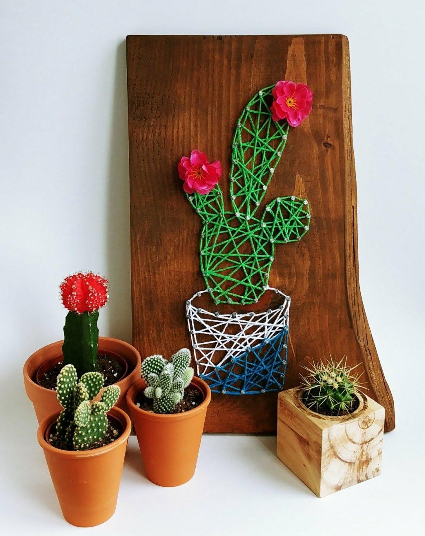 Cactus, String Art, Repurposed, DIY