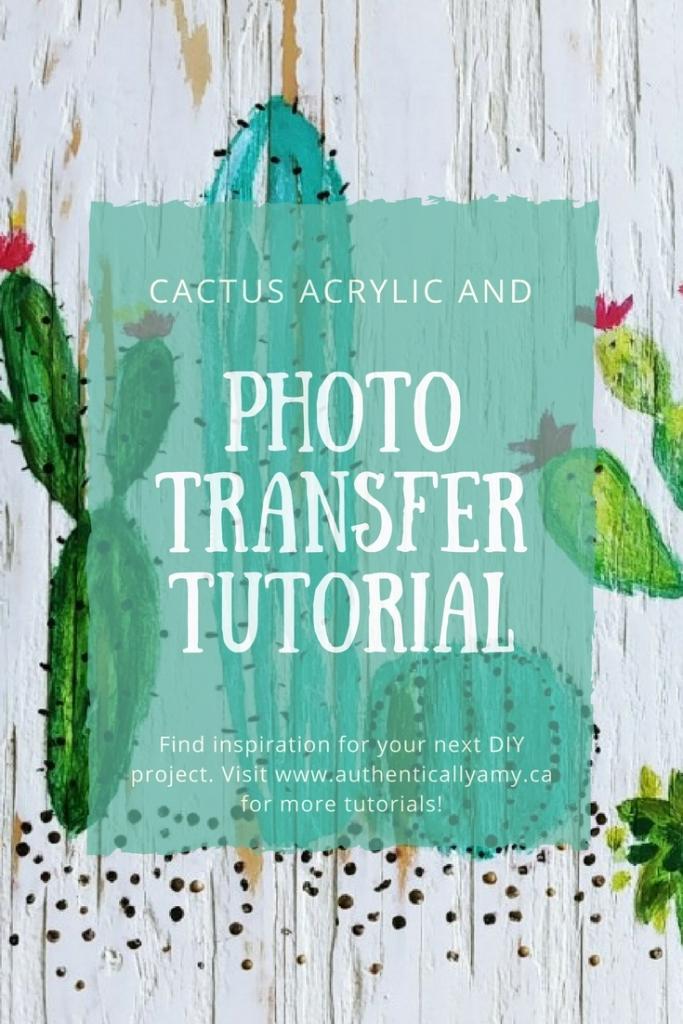 Cactus Acrylic Pin