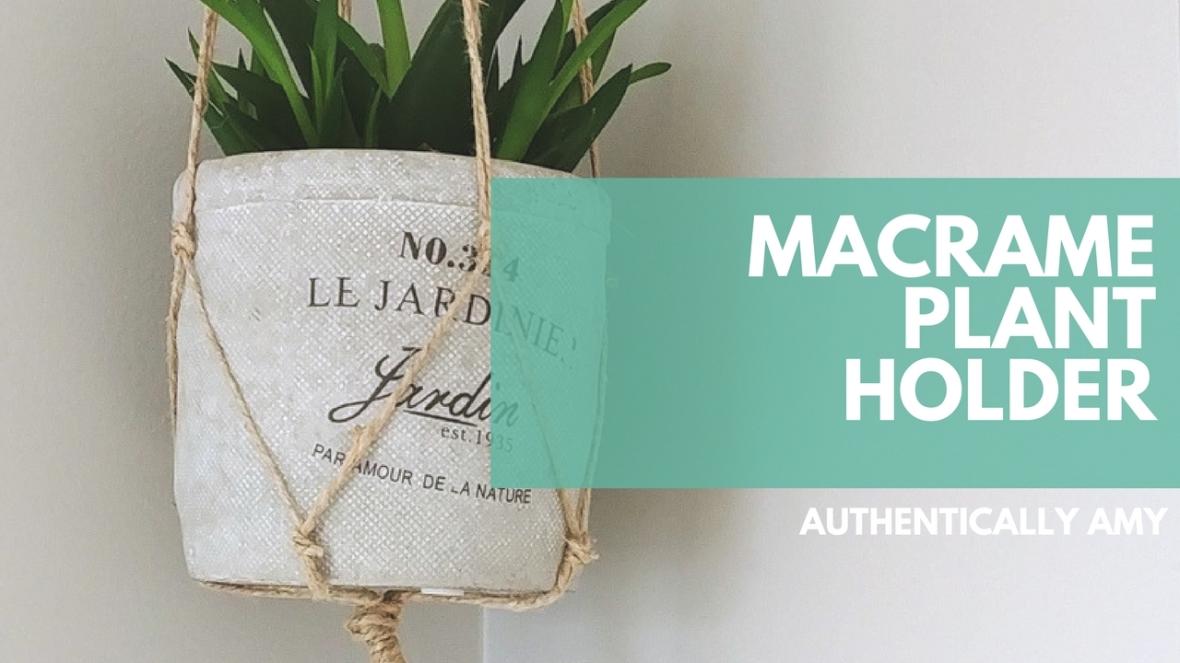Macrame, Plant Holder, Succulent, Jute