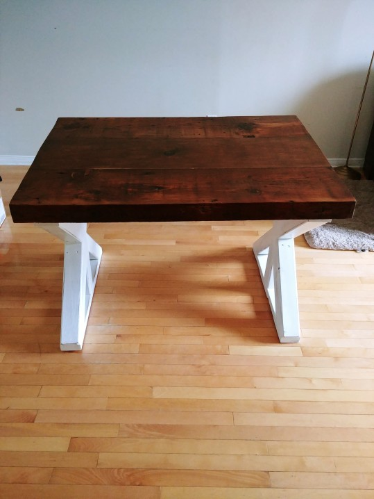 Our completed dining room table.