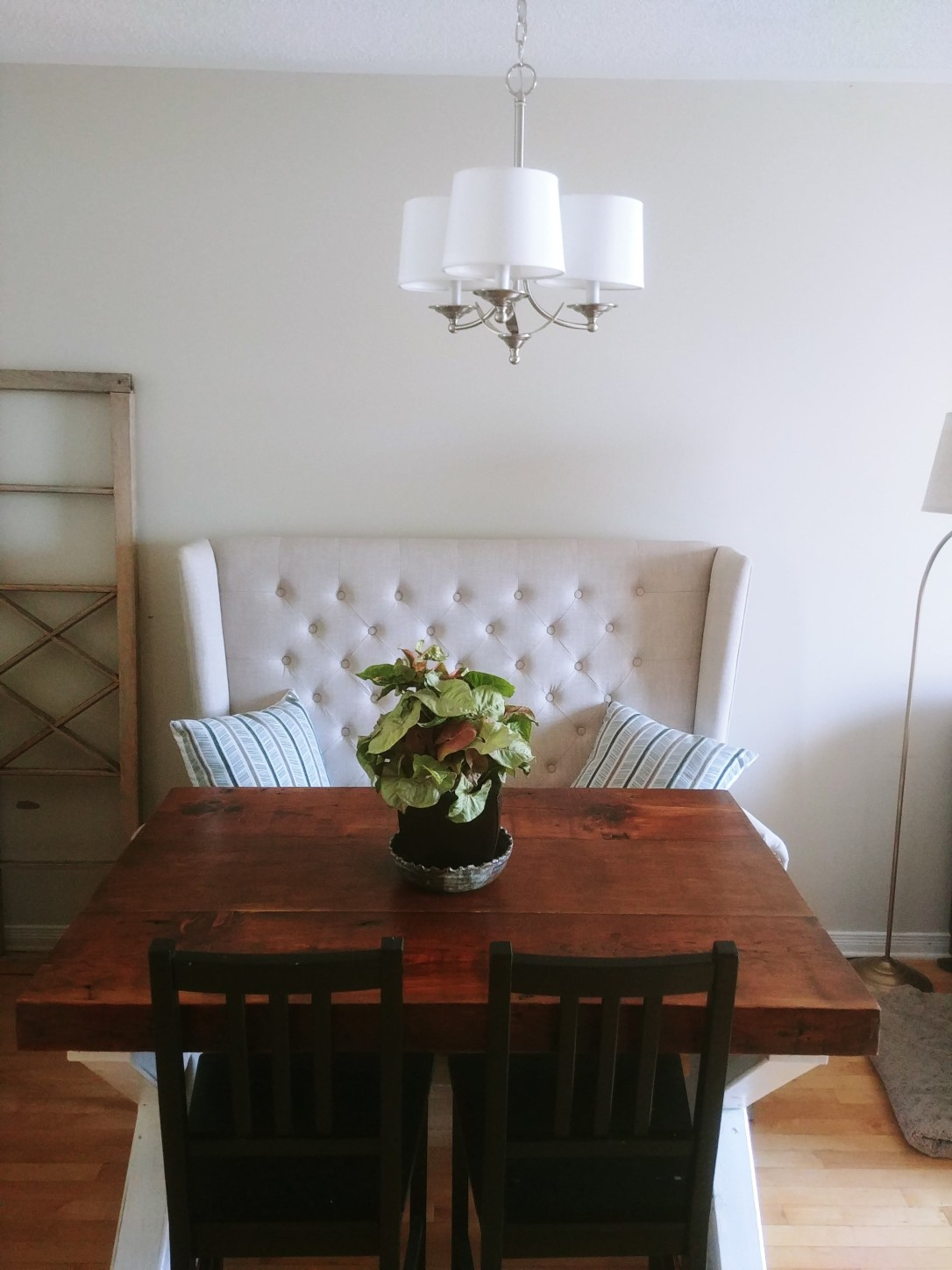 Chandelier with Table
